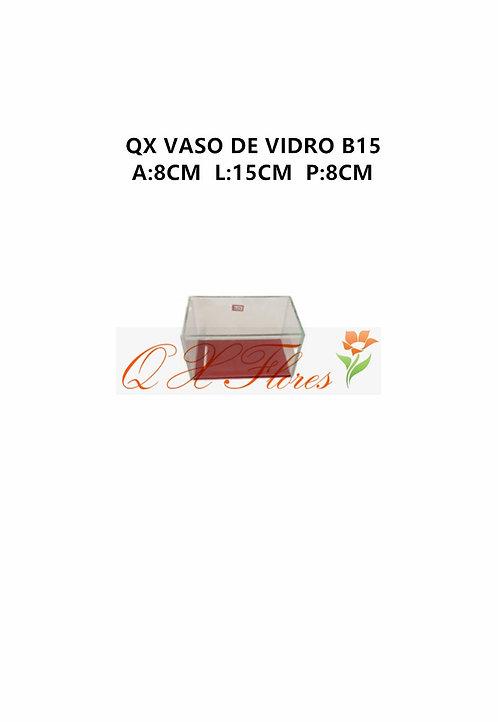 QX VASO DE VIDRO B15