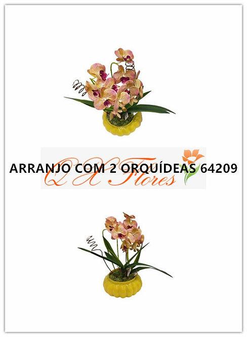 QX Arranjo com 2 orquídea 64209