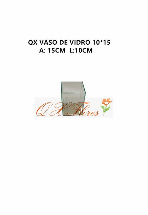 QX VASO DE VIDRO 10*15
