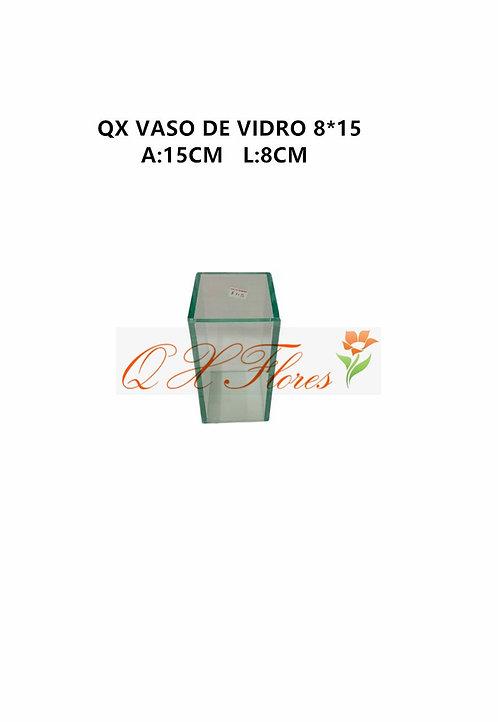 QX VASO DE VIDRO 8*15