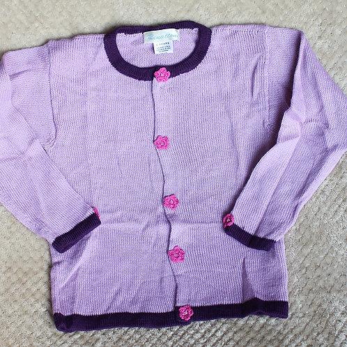 Girl's Pink Cardigan Sweater