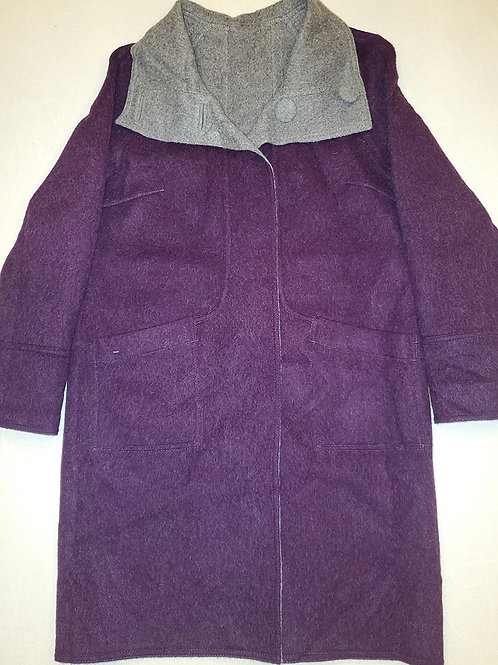 Purple/Grey Reversible Alpaca Coat