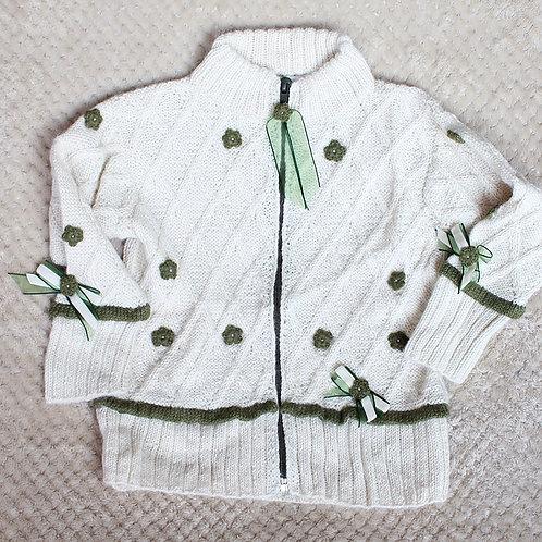 White Zip Up Sweater