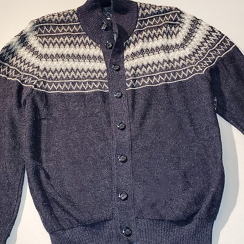 Gray Button Down Cardigan Sweater