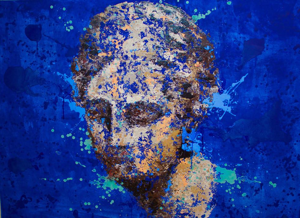 Drops blue Klein