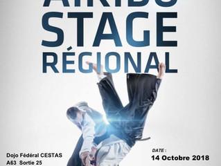 Stage régional le 14 octobre 2018