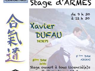 Stage Aïkido le 28 avril
