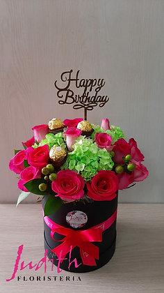 T3- Caja de rosas y chocolates