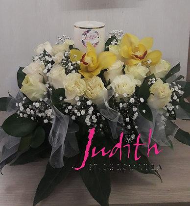 F3- Rosas, orquídeas y velón