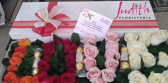 T58- Caja de rosas love