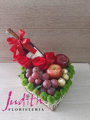 T21- Corazón , Frutas con licor