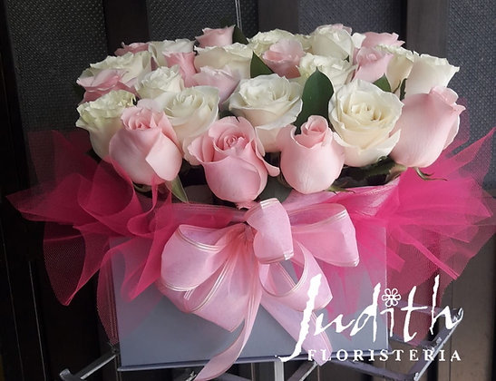 T38- Caja rosas rosadas