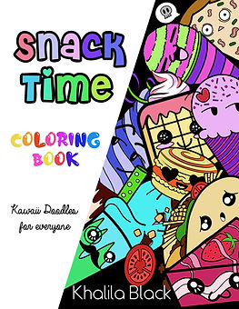 Snack Time. A kawaii Doole Coloring Book for Everyone.