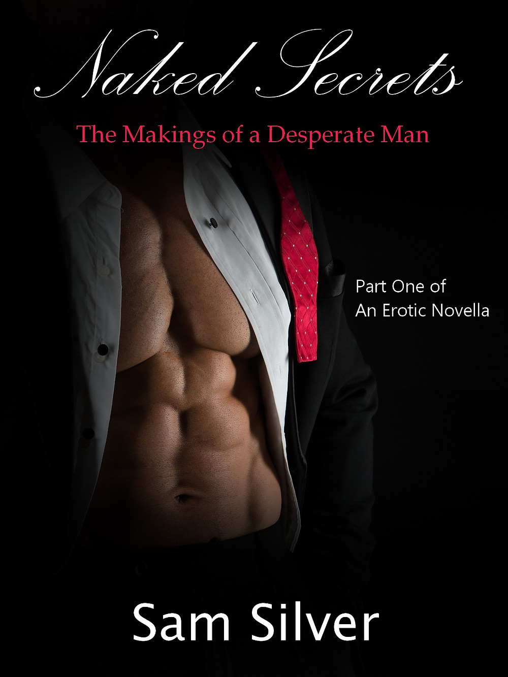 Original book cover to Samuel Silver's erotica story novella, 'The Makings of a Desperate Man (Naked Secrets 1)'