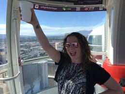 On the Las Vegas High Roller (ferris wheel)