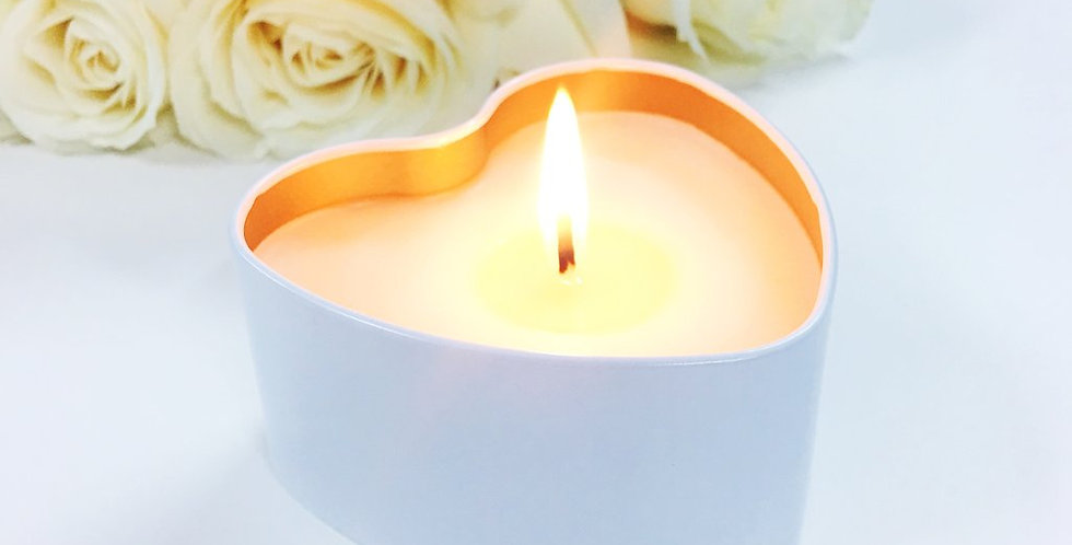 Kasbah Heart Candle - Champagne