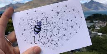 Bee & Heart Card  by Emma Timmis