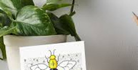 Bee Card by Emma Timmis
