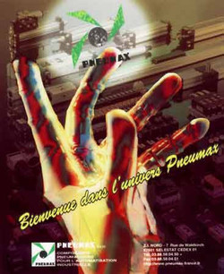 3D Hologravure goods with advertising - mouse pad - fringes per moiré - iridescence inside the