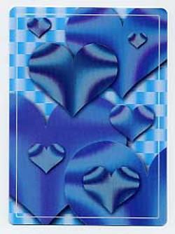 3D Hologravure card - fringes per moiré and per design - dynamic effects - depth effect