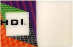 Hologravure business card - depth effect - fringes per moiré and per design