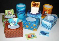 3D Hologravure - boxes - pencil pots
