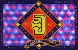 3D Hologravure - donruss - 1992