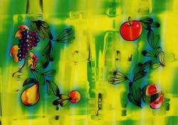 3D Hologravure - still life fruit