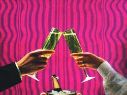 3D Hologravure advertising - fringes per moiré - depth effect - glass effect - light effect
