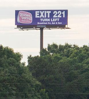 Billboard 1-75 @ Bill Gardner Parkway, Atlanta
