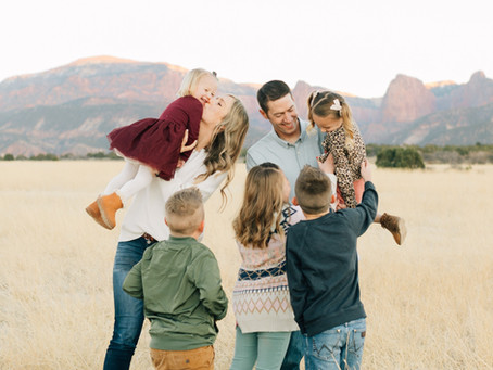 New Harmony Family Pictures | Open Field | Southern Utah Photographer