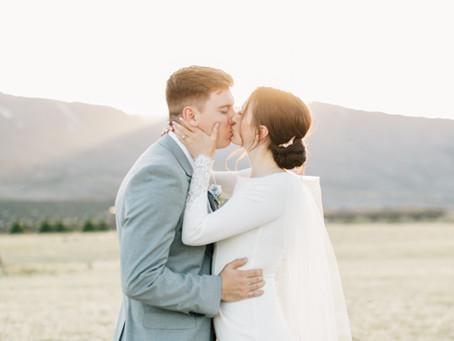 Megan & Carter | Bride & Groom First Look | Cedar City Wedding Photographer