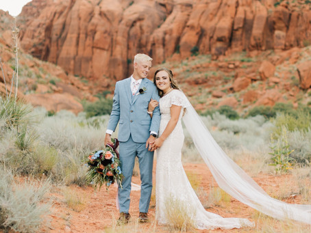 First Look | Bridal Session | Southern Utah Photographer