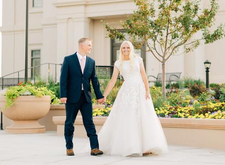 Covid Wedding | Cedar City Temple Wedding | Jordan & Zac