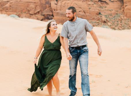 Covid Engagement Session | Kenna & Brady | Southern Utah Wedding Photographer