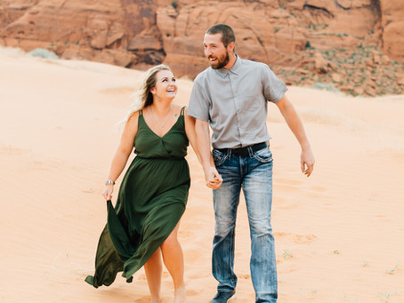 Covid Engagement Session | Kenna & Brady | Southern Utah Wedding Photographer