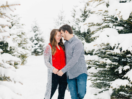 Winter Wonderland | Utah Engagement Session