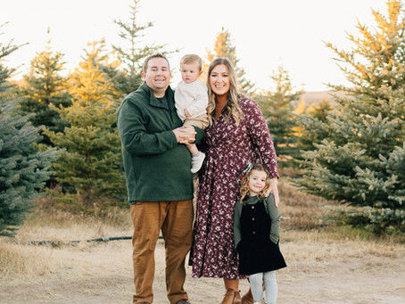 Christmas Tree Farm Family Session | Utah Photographer | St George