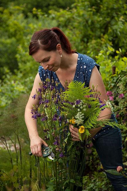 Stephanie Mahon, garden writer, Magazine Editor, fern, Welsh poppy, aquilegia, secateurs