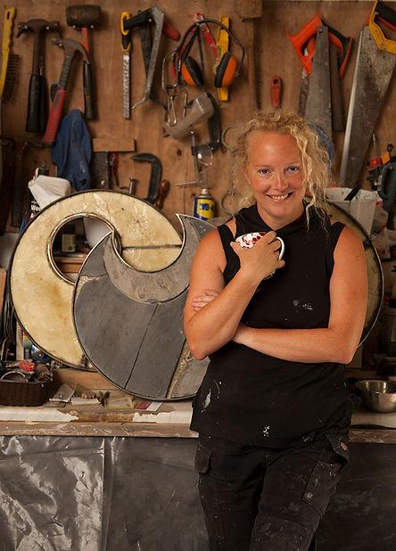Gemma Wood, Sculptor, artist, the nurtons, wye valley sculpture garden, workshop, artist's studio