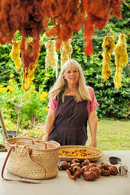 Jane Meredith, Plant dyes, dyes, natural dyes, textile dyes, garden, plant dyed wool, craftspeople, rural skills, country crafts, craft courses