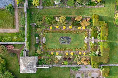 Drone image of Wyndcliffe Garden