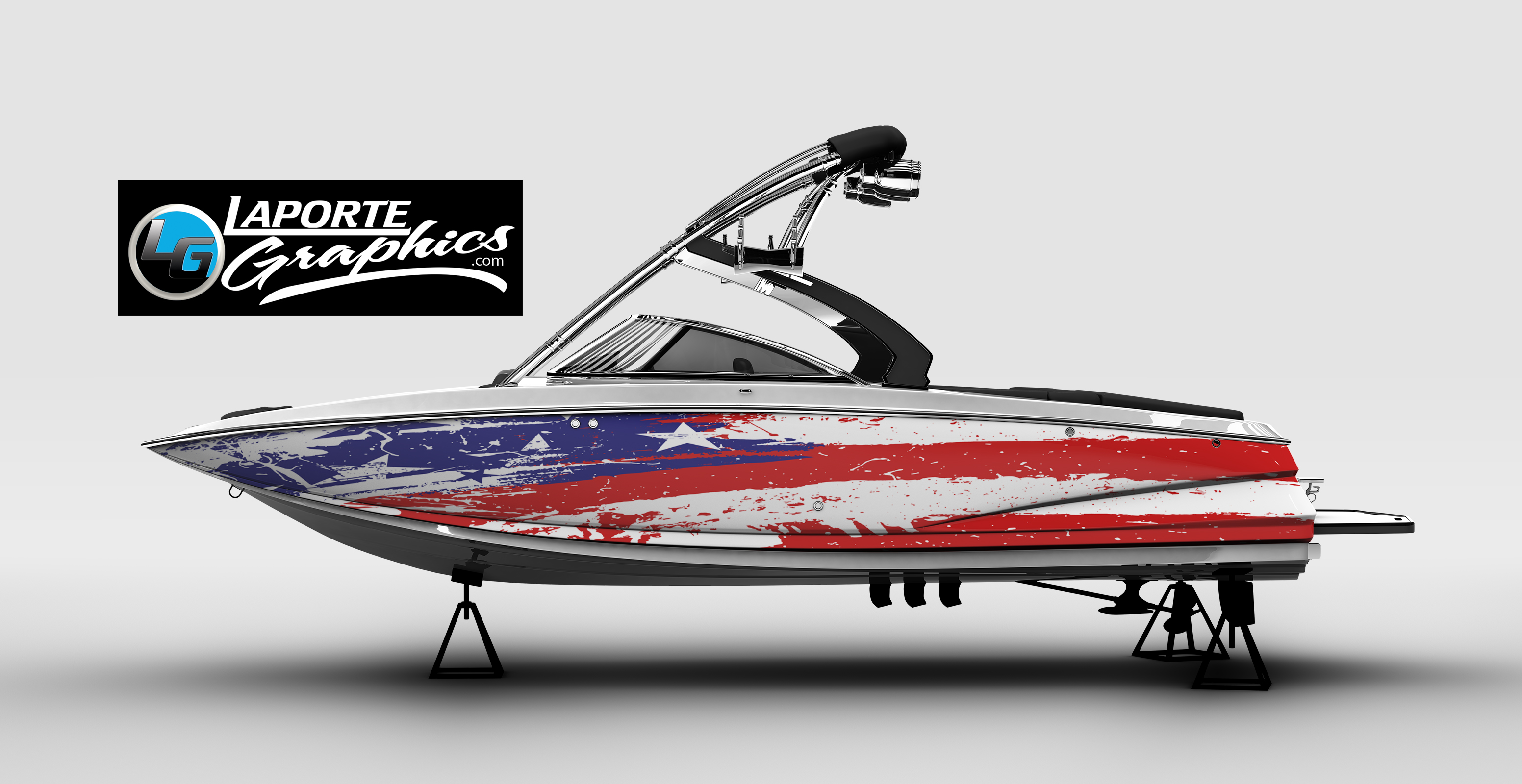 Boat flag wrap