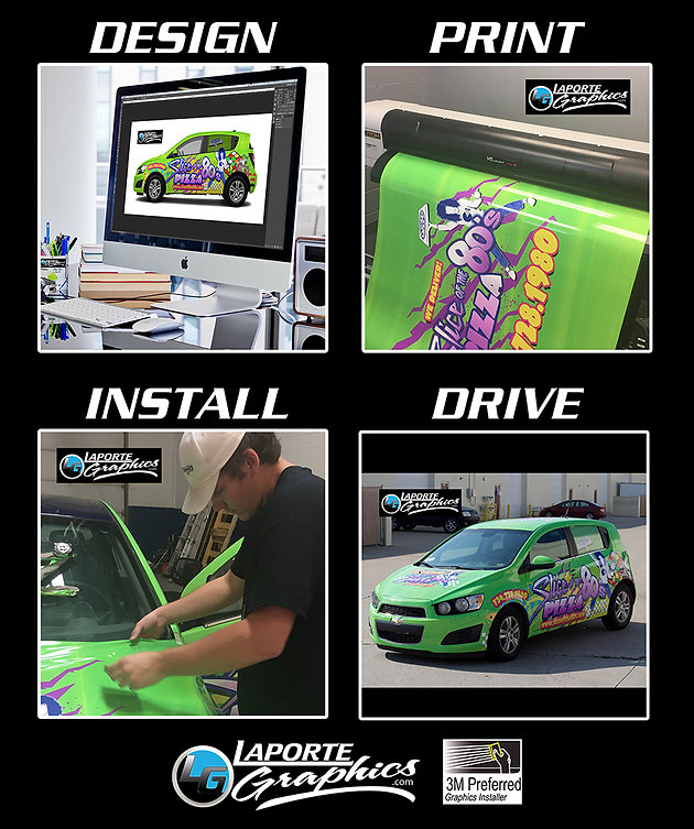 Design — Print — Install — Drive | Vehicle Wraps | Clinton Twp  MI