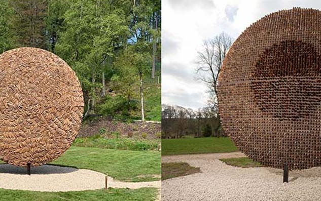 Pineapple disc (2019) The Himalayan Garden & Sculpture Park, Yorkshire, UK
