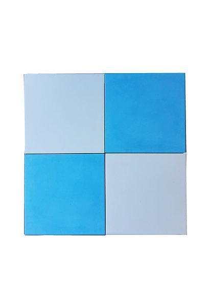 Carreaux Blanc Bleu 20 x 20