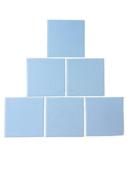Carreau blanc mat 9,5 x 9,5