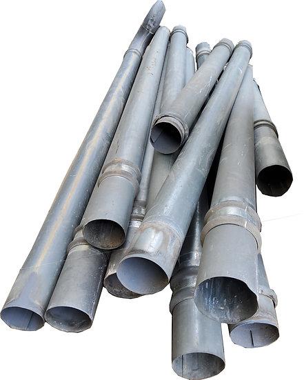 Tuyau de descente zinc gris Diam.100 mm