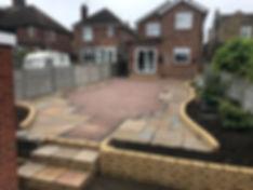 Brick walls and patio