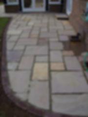Indian sandstone paving